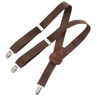 Childrens Toddlers Elastic Adjustable Suspender Chocolate Brown Kids Suspenders