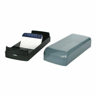 Black 600 Business Card File/Holder/Organiser A-Z Filing System Wide Opening