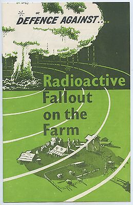 1950's Nsw Civil Defence Cold War Radioactive Fallout On Farms Atomic Bomb A100.