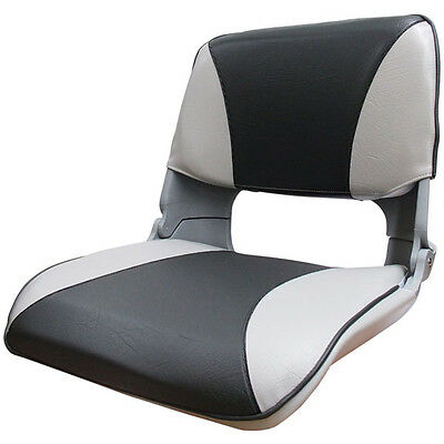 GREY FOLDING Boat SEAT Tinnie Seat / Marine Seat with Cushion