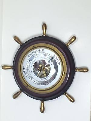 Vintage Gischard  ships wheel weather guide made in Germany