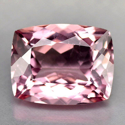 3.88Cts Gorgeous Cushion Cut Natural Aaa Pink Morganite Video In Description