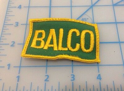 Balco Yellow & Green Embroidered Patch