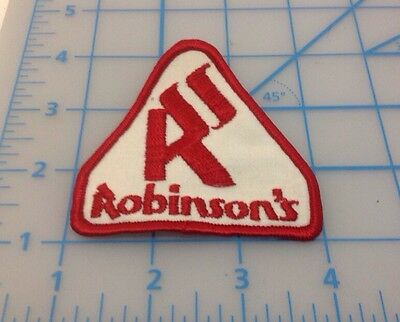 Robinson's Red & White Embroidered Patch
