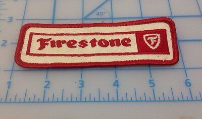 Firestone Red & White Embroidered Patch