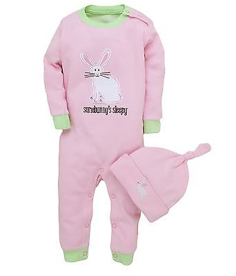*new* Hatley - Girls Pretty Bunnies Coverall & Hat - Pyjamas