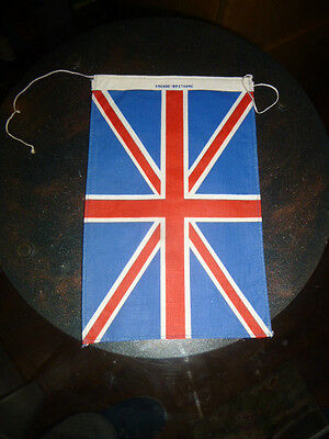 Old Pennant FLAG for Scooter or MOTORBIKES VESPA LAMBRETTA HARLEY GREAT BRITAIN