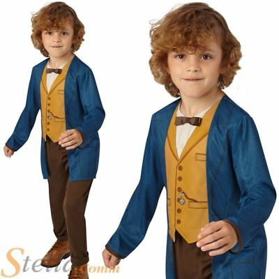 Boys Newt Scamander Costume Fantastic Beasts Book Week Child Fancy Dress Outfit
