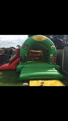 commercial bouncy castle And Slide Combo Very Good Condition Double Stitched Wf2