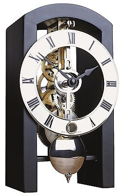 HERMLE Table Skeleton Mantel Clock mechanical 8-day movement black Made Germany