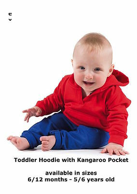 Plain or Printed Personalised Baby / Toddler / Kid / children  hoodie hoody