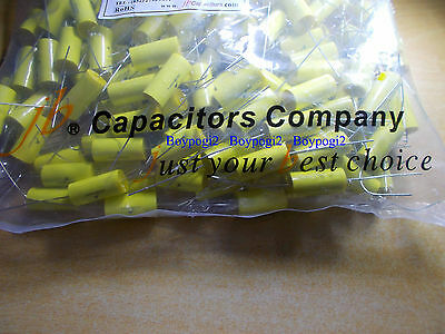 5 x JB 0.1uF 630V Axial Metallized Polyester Film Capacitor UK Seller