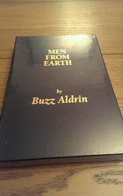 Buzz Aldrin SIGNED LIMITED EDITION Men from Earth HB Book COA  Leather UNOPENED