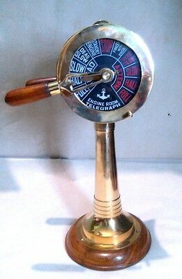 Handmade Solid Brass Marine Ship Engine Room Telegraph Marine Office Desk Decor