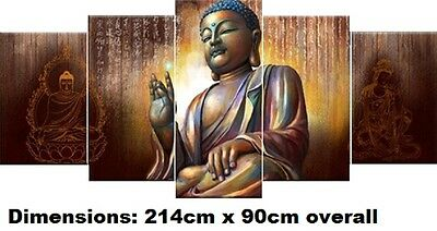 BUDDHA- EXTRA LARGE SPLIT FRAMED CANVAS PRINTS !!! Modern Exclusive Art Painting