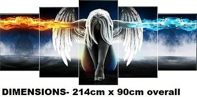 ANGEL- EXTRA LARGE SPLIT FRAMED CANVAS PRINTS !!! Modern Exclusive Art Painting