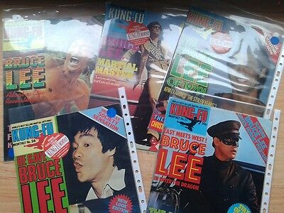 Bruce Lee  Kung Fu Montly Posters Gigants Lote 5 Magazines Ingles