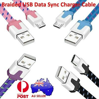 2X Braided USB Data Sync Charger Cable 1M 2M 3M for samsung S6 S7 edge HTC Nokia