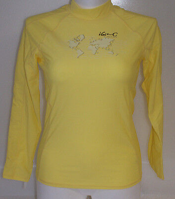IQ-Company Damen UV Shirt 300 - Wassersport - Slim Fit - Gr. XL/44 - gelb