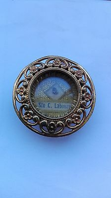 Antique Relic St Catherine Laboure Theca Holder Wax  Locket Seal