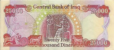 Iraq 25000 Dinars Note In Very Good Condition Uncirculated