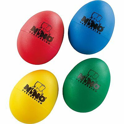 Nino Percussion 4 Piece Plastic Egg Shaker Set w/ Assorted Colours - NINOSET540