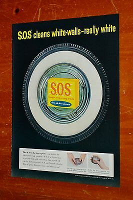 Superb 1957 Sos Pads Ad For Cleaning White Wall Tires Vintage Ad - Canadian