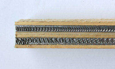 Metal Letterpress printing type font Caslon OS Italic 12 pts French accents only