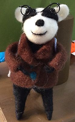 Felted Badger With Backpack