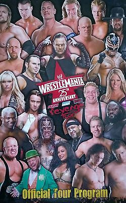 Wrestlemania 25th Anniversary Official WWE Wrestling Tour Programme