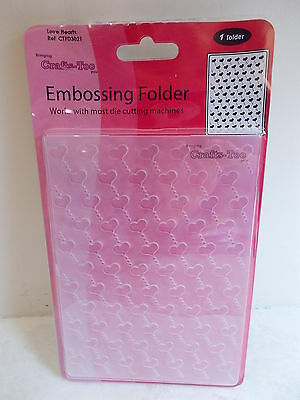 Embossing Folder A6 Love Hearts Crafts Too CTFD3021