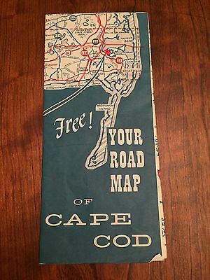 Your Road Map Of Cape Cod. Vintage. Full Color. EUC