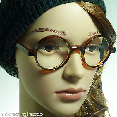 Small Round Designer Celebrity Clear Lens Glasses Vintage Limited Geek Nerd 60/'s
