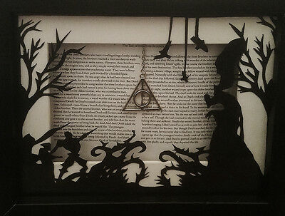 """Harry Potter inspired """"Tale of the three brothers"""" hand cut papercraft"""