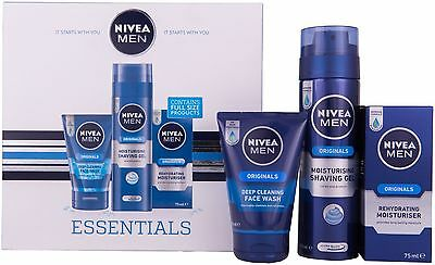 Nivea Men Essentials Gift Set for Men 3 Pieces