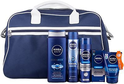 Nivea Men Ultimate Fitness Bag and Power Band Gift Set for Men 5 Pieces