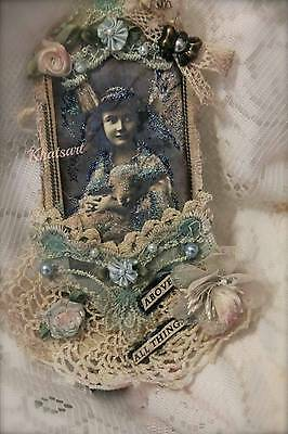*Vintage Girl with Lamb* Easter Gift Tag For Album  ELITE4u By KHATSART