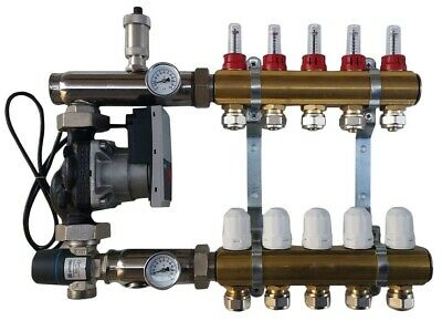 WILO Thermostatic Mixing Group with Underfloor Heating Manifold 2-12 Port
