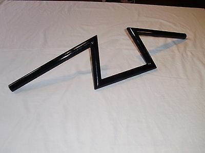 "1"" Double Z Bars Handlebars In Black Custom Made For Harley Bobber Chopper"