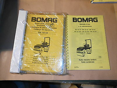 BOMAG tandem vibratory roller BW 138 AD Spare parts catalogue 1997 + manuale uso