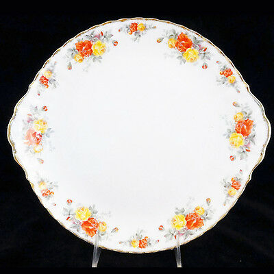 """PACIFIC ROSE Royal Albert Cake Plate 10.5"""" England Bone China NEW NEVER USED"""