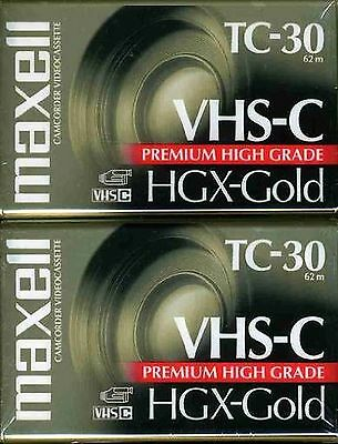 Maxell 203020 HGX-GOLD TC-30 Camcorder Video Cassette 2 Pack