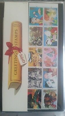Great Britain Stamps-1ST CLASS GREETINGS-Presentation Pack
