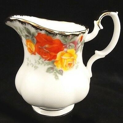 """PACIFIC ROSE Royal Albert Creamer After Dinner 3.5"""" Bone China NEW NEVER USED"""