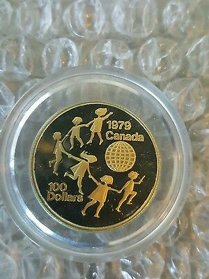 IYC Gold Coin - 1979 Canada 100 dollar proof coin
