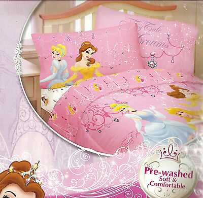 Disney PRINCESS Girls REVERSIBLE PILLOWCASE Fairy Tale Pink CINDERELLA BELLE new