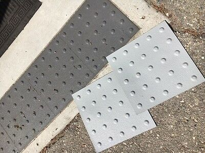 ADA Compliant Truncated Domes with Peel and Stick Technology - 1'x1' (4pack)