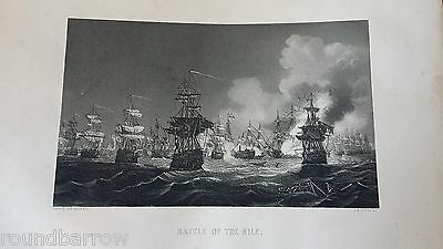 Antique Engraving Battle Of The Nile 1798 Nelson Egypt - Hagger  Payne  Weir Ra