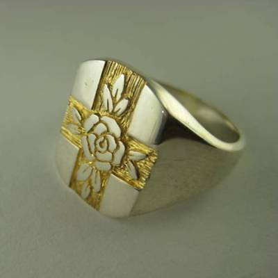 Solid silver Rosicrucian ring - 2364s-R