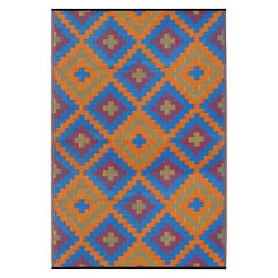 NEW FAB Rugs Saman Plastic Outdoor Rug in Blue, Red